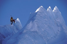 Alpinist on Glacier