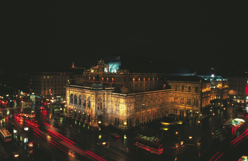 State Opera House by Night, Vienna