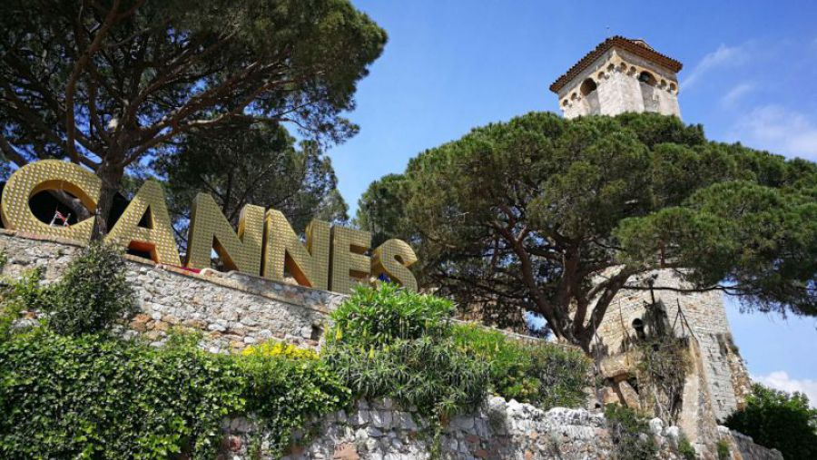 Cannes Sign at Musée de La Castre