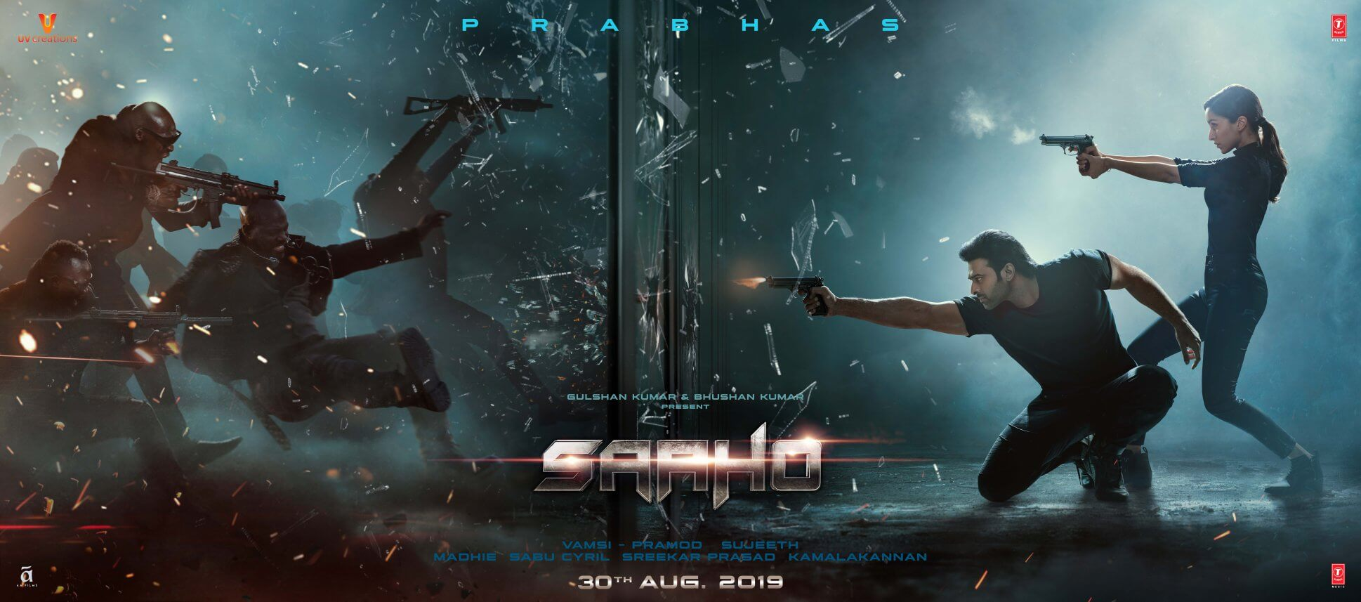 Film poster Indian blockbuster Saaho