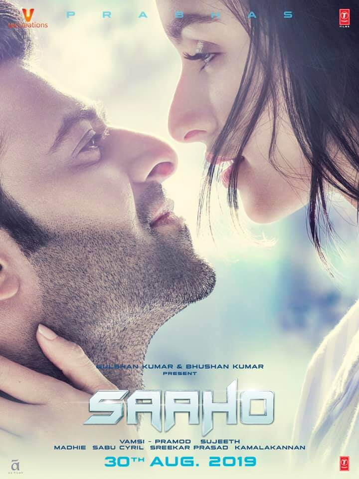 Film poster Indian blockbuster Saaho 1